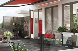Vision 3200W Wind Protected Patio - In-Situ Image by Heatscope